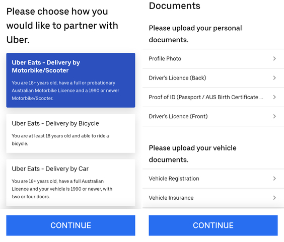 ubereats driver registration process