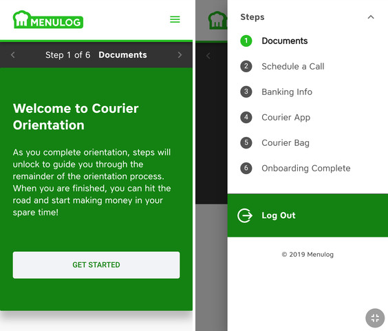 menulog driver registration steps