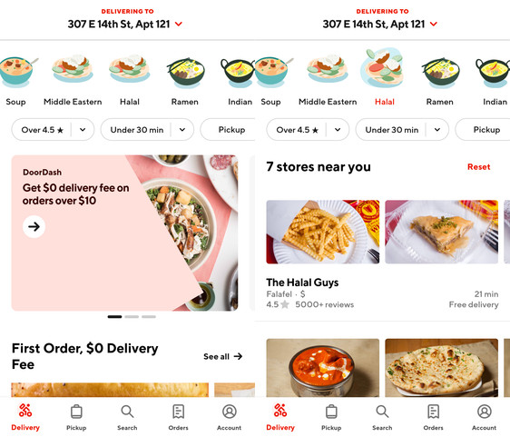 doordash halal foods