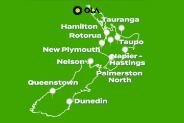 ola driver nz cities
