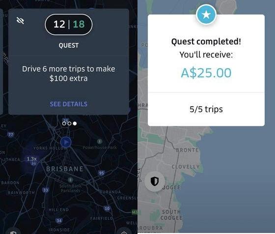 uber quest australia