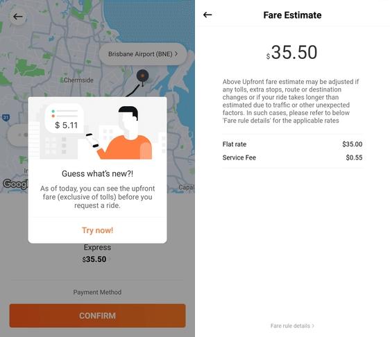 didi upfront fares