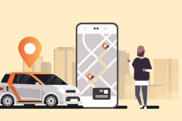aus rideshare driver app illustration