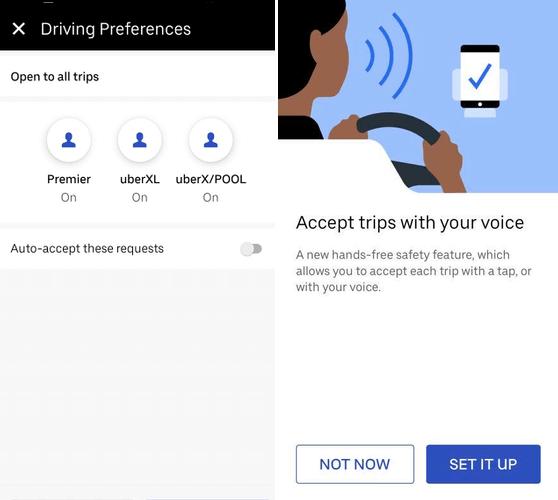 uberx ubereats auto accept voice