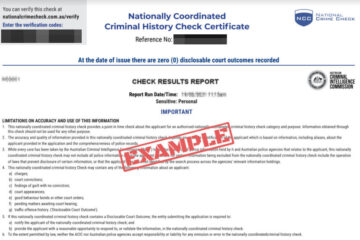 background check result